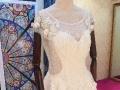 出租玛利亚婚纱较新推出森系花朵水晶流苏长拖尾新娘婚纱