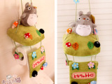 宫崎骏 创意可爱龙猫毛绒公仔 卡通布艺纸巾抽 挂式卷纸器/纸巾架