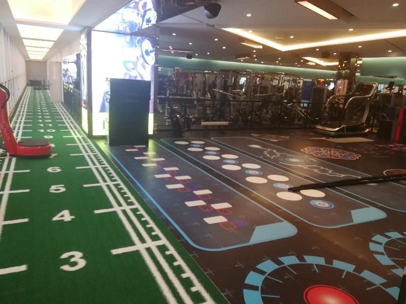 河北浩康定制地板 360功能健身地板 健身房全屋定制