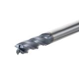 黑色平底铣刀图片,4刃钨钢铣刀规格,高硬度合金铣刀