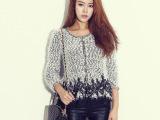 2014秋冬装新款韩版刺绣蕾丝花瓣气质修身针织衫毛衣外套 女