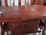 全新榆木茶桌出售5张椅子带电炉