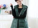 厂家直销2015秋冬新款韩版休闲棉外套大码连帽中老年女式马甲背心