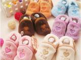 珊瑚绒婴儿鞋男女0-1岁宝宝鞋软底地板鞋幼儿学步鞋雪地靴棉鞋批