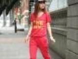2013夏装新款女装 卫衣女 韩版卫衣套装女夏薄款 女款夏运动套