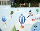 嘉家艺术画廊工装壁画壁布背景墙手绘彩绘三D画制作