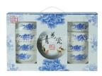 潮州广宝陶瓷碗 青花瓷16头餐具 8碗8勺 可加LOGO 厂家直销
