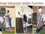 批发家用梯子 4.4米关节伸缩梯 2.2米人字梯 竹节梯 可一件代发
