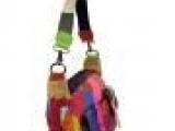 2013新款欧美学院风铆钉彩色多口袋女包真皮撞色单肩斜跨包羊皮包
