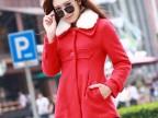 韩国代购2014新款冬装毛呢外套女装 韩版修身显瘦保暖呢子大衣