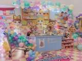 长沙气球布置-长沙生日宴布置-甜馨蒂芙尼兰生日派对