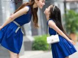 熠美思2015春夏装新款亲子装礼服裙复古优雅公主裙母女装连衣裙女