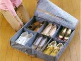 竹炭收纳-带盖防尘6格鞋子收纳盒/靴盒/收纳鞋盒