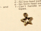 手工diy饰品材料 古铜饰品配件 新款1277迷你五角星