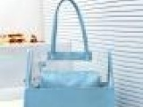 2013韩国新款时尚果冻包透明包塑料包单肩手提大包包韩国新款女包