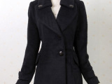 职场装秋冬季新款韩版修身显瘦塑形毛呢大衣外套女装外贸原单批发