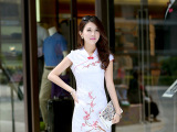 中国风新品旗袍夏 时尚礼服 复古无袖民族服  修身连衣裙