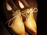 若梦~街拍潮款外贸真皮单鞋低跟尖头女鞋擦色牛皮单鞋一件代发