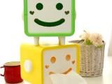 创意笑脸纸巾抽 可爱卡通表情  防水纸巾筒盒纸抽/汽车家用