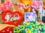 .济南气球装饰 生日宴会布置 气球主题婚礼 空飘气球