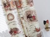 纯棉加厚活性双经双纬帆布布料 窗帘布料 贝多芬钢琴图案 新品