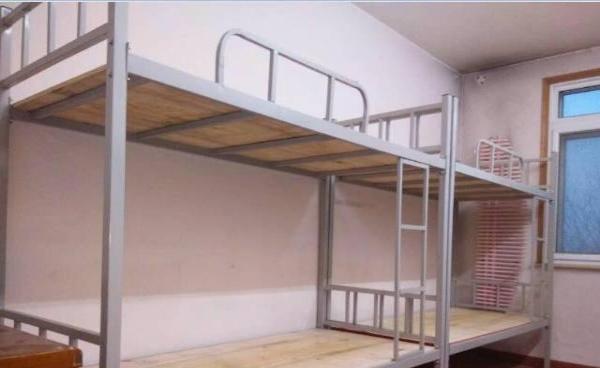 上下床现货有500套 铁架上下床带床板