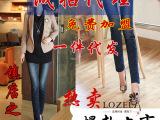 2014春装新款路哲兰弹力女式小脚裤铅笔中腰牛仔裤女裤一件代发
