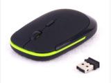 115  2.4G超薄无线鼠标 10米接收距离 不含电池 支持支