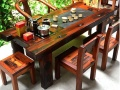 老船木茶桌 船木家具 茶几实木茶台阳台户外客厅功夫泡茶桌