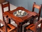 宜春市老船木家具茶台餐桌椅子实木茶桌子沙发茶几办公桌柜子架子