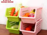 尚容 叠加收纳筐篮厨房水果蔬菜架杂物整理架置物架收纳架收纳篮