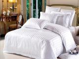 五星级酒店布草宾馆床上用品纯棉床单贡缎被