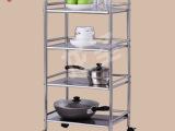 厨房不锈钢置物架 厨房收纳微波炉架厨房收纳架