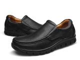 秋季真皮中年男士休闲皮鞋软底中老年男鞋防滑爸爸鞋单鞋老人鞋男