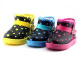 童鞋 冬季新款儿童雪地靴 圆点儿童雪地靴 男童女童保暖童鞋批发