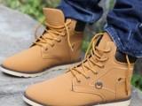 热卖冬季新款韩版马丁靴英伦潮流短靴高帮工装军靴休闲男鞋男靴