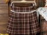 厂家直销供应2013时尚新款女式格子毛呢裙 时尚百搭半身裙
