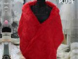 新娘披肩 长方形人造长毛款红色婚纱礼服 婚纱礼服配饰批发pj05