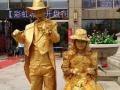 铜人活雕塑行为艺术老北京古铜人表演演出出租出售定做
