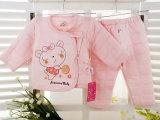 秋冬新款婴儿夹棉内衣 创意款卡通图案纯棉保暖婴幼儿内衣裤
