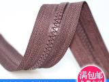 拉链厂 塑钢拉链5号黑色 码装树脂拉链zipper 服装拉链现货