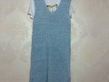 秋装新款百搭背心 纯色修身V字领长款女士套头针织衫 厂家热卖
