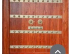 老榆木大门图片 实木大门定制 铜钉大门价格 大门设计