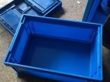 虎门塑胶箱厂,全新料蓝色塑料箱,折叠塑胶箱厂
