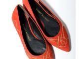 2014春新款女鞋 欧美 大牌原单 浅口尖头全真皮平底单鞋 代发