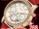 瑞士正品女士手表真皮 防水钻女表潮流时尚复古时装表女 批发手表