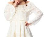 日本LIZ LISA蕾丝镂花春季新款OP 雪纺蕾丝连衣裙