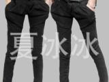 2011秋冬新款韩版黑色雪花小脚铅笔裤牛仔裤女潮休闲裤哈伦裤大码