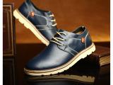 2015新爆款男鞋 男士系带时尚日常休闲皮鞋 真皮正品头层牛皮鞋