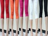 2014新款打底裤女韩版七分裤 女 夏显瘦白色拼接高档女装